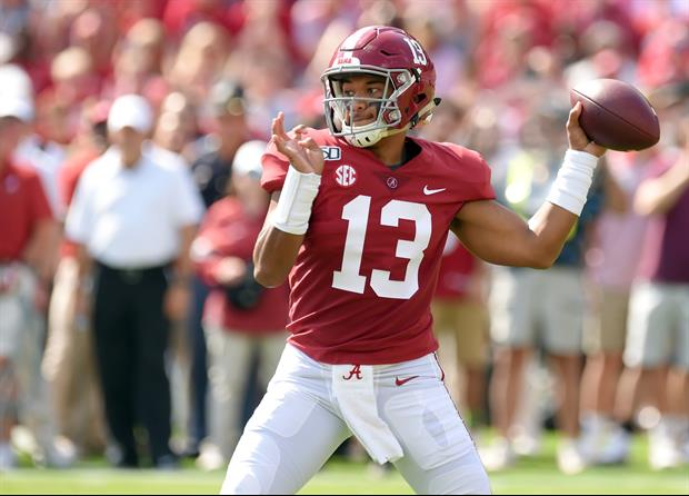 former New York Giants kicker Lawrence Tynes was targeting Alabama QB Tua Tagovailoa on Twitter on S