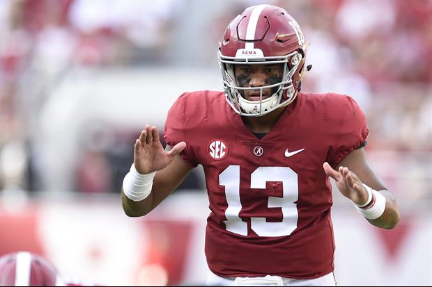 Nick Saban revealed Alabama starting QB Tua Tagovailoathat sprained his during last weekend's Arkans