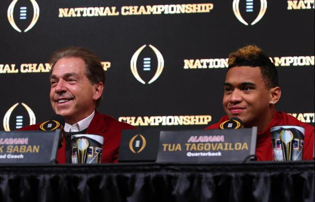 As we head into summer shortly, Alabama head coach Nick Saban is challenging his staring QB Tua Tago