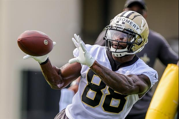 Nick Underhill of NewOrleans is reporting Saints WR Ty Montgomery had to leave Wednesday's practice