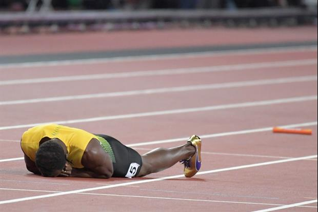 Watch Usain Bolt Pull Hamstring In His Final Race