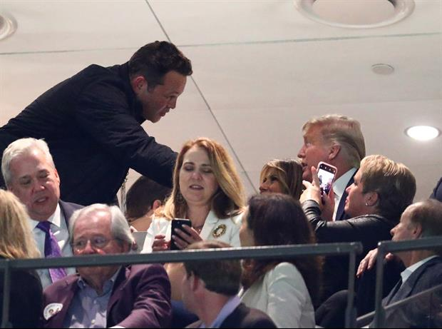 Vince Vaughn & Donald Trump Chatting It Up In Suite At National Championship Game