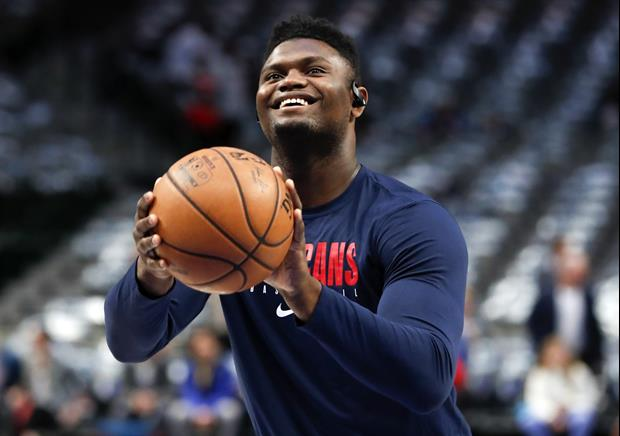 Looks Like Zion Williamson Been Hitting The Gym During Quarantine